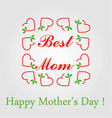 Happy Mothers day greetings vector image