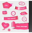 label stickers vector image vector image