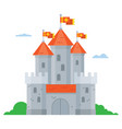 medieval stone castle vector image