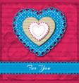 multicolored valentine heart napkins composition vector image