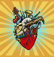 music in heart musical orchestral instruments vector image