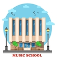 Music school or college conservatory building vector image vector image