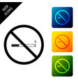 no smoking icon isolated on white background vector image vector image