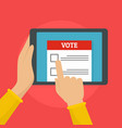 online voting background flat style vector image