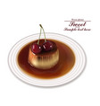 panna cotta dessert sweet breakfast with vector image vector image