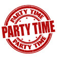 party time grunge rubber stamp vector image vector image