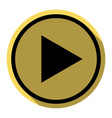play sign flat black icon vector image