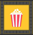 popcorn red yellow box film strip square frame vector image vector image