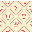 Seamless pattern with astrology symbols planets vector image