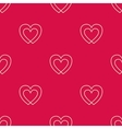 Seamless pattern with two hearts vector image vector image