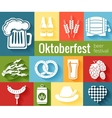 Set of Oktoberfest icons vector image vector image