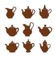 Set of teapot icons vector image
