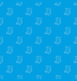 sitting monkey pattern seamless blue vector image vector image