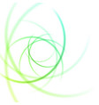 smooth light waves lines abstract vector image