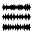 Sound Waves Set on White Background vector image