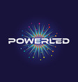 spark colorful power led logo symbol vector image