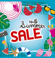 summer sale banner background vector image vector image