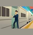 train conductor vector image