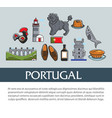 travel to portugal portuguese symbols banner vector image vector image