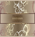 victorian background with antique luxury beige and vector image vector image