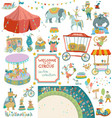 vintage circus collection of elements vector image vector image