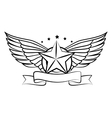 wings emblem isolated icon vector image