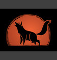 wolf howling graphic vector image