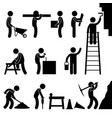 working construction hard labor pictogram icon vector image