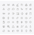 outline breakfast icons vector image