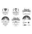 set of logo and badges baseball vector image