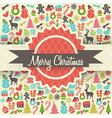 Retro Christmas Card Design vector image