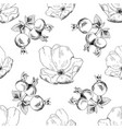 seamless sketch briar template background vector image
