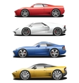 set of sport cars vector image