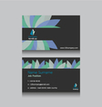 abstract business name card vector image vector image