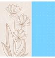 beige flowers vector image vector image
