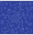 Blue backgrounds flower doodle art vector image