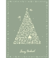 Christmas card sketch drawing for your design vector image vector image