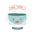 Christmas card with mug vector image