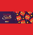 christmas horizontal banner header for website vector image vector image