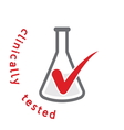 clinically tested1 resize vector image vector image