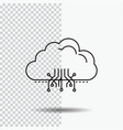 cloud computing data hosting network line icon on vector image vector image