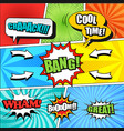 comic book colorful background vector image