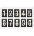 countdown flip board with scoreboard flip vector image