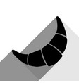 croissant simple sign black icon with two vector image vector image