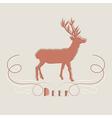 Decorative of deer vector image vector image