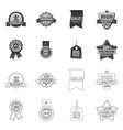 design emblem and badge symbol vector image vector image