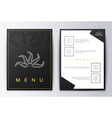 Design menu Brochure culinary menu Menu background vector image