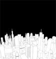 elegant city vector image