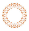 Elegant round decorative frame flourish