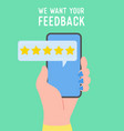 feedback concept people rate service vector image